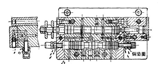 轴承磨床液压操纵箱泄漏改造前结构图图片